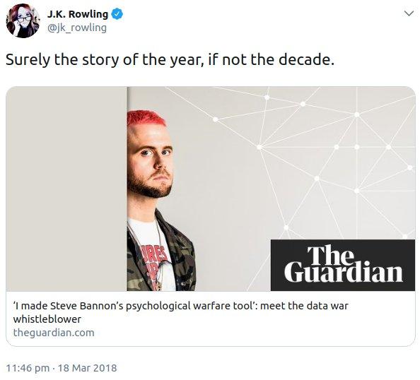 JK Rowling tweet